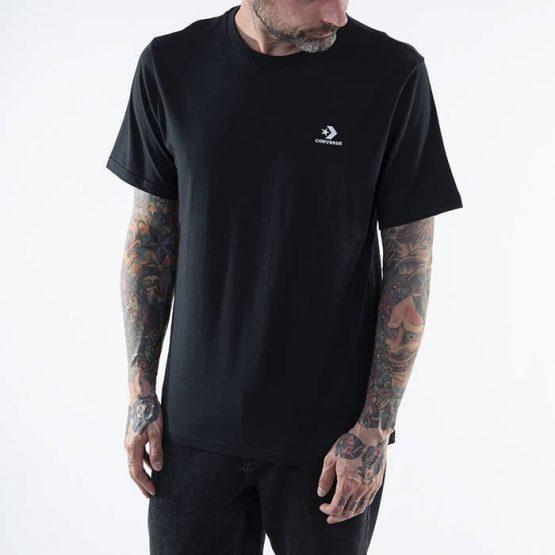 חולצת T קונברס לגברים Converse Embroidered Star Chevron Tee - שחור