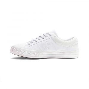 נעלי סניקרס קונברס לגברים Converse One Star OX - לבן
