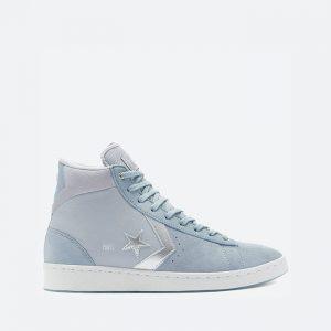 נעלי סניקרס קונברס לגברים Converse Pro Leather High Top Heart Of The City - כחול