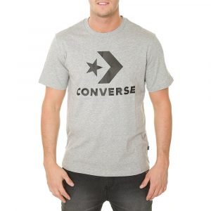 חולצת T קונברס לגברים Converse Star Chevron Tee - אפור