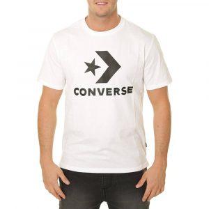 חולצת T קונברס לגברים Converse Star Chevron Tee - לבן