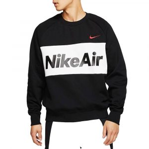 סווטשירט נייק לגברים Nike Fleece Crew - שחור/לבן