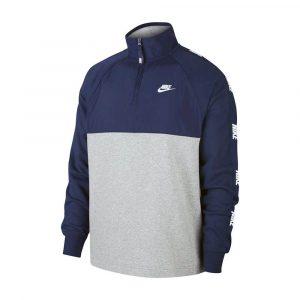 סווטשירט נייק לגברים Nike M Nsw Ce Top Hybrid - כחול/לבן