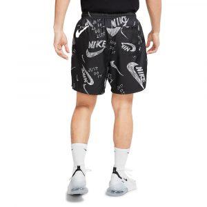 מכנס ספורט נייק לגברים Nike Print Shorts - שחור