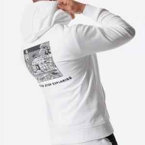 סווטשירט דה נורת פיס לגברים The North Face Black Box Hoodie Fleece - לבן
