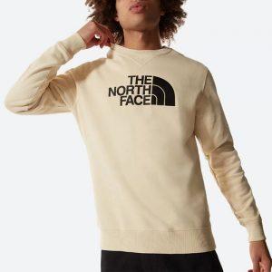 סווטשירט דה נורת פיס לגברים The North Face Drew Peak Crew Light - בז'
