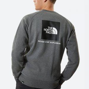 סווטשירט דה נורת פיס לגברים The North Face Raglan Redbox Crew - אפור כהה