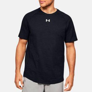 חולצת T אנדר ארמור לגברים Under Armour Cotton SS - שחור