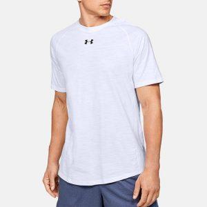 חולצת T אנדר ארמור לגברים Under Armour Cotton SS - לבן
