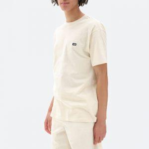 חולצת T ואנס לגברים Vans Off The Wall Classic Speedpearl - לבן