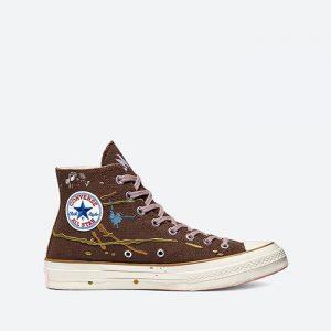 נעלי סניקרס קונברס לגברים Converse x Bandulu Chuck 70 Hi - חום