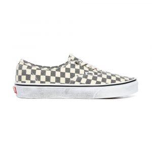 נעלי סניקרס ואנס לגברים Vans Washed Authentic - לבן