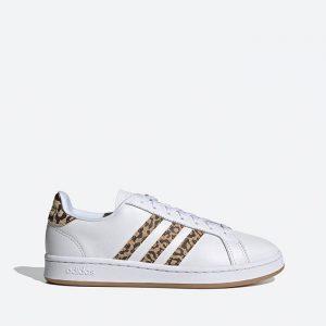 נעלי סניקרס אדידס לנשים Adidas Grand Court - לבן/צהוב