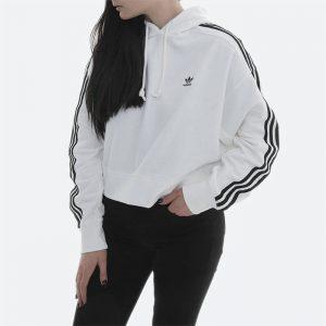 סווטשירט אדידס לנשים Adidas Originals Loungewear Adicolor Essentials - לבן