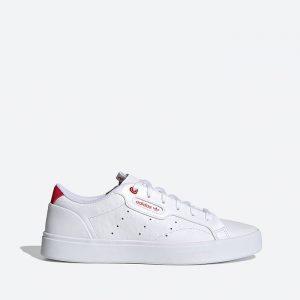 נעלי סניקרס אדידס לנשים Adidas Originals Sleek Valentines Day - לבן/אדום