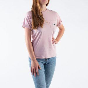 חולצת T קארהארט לנשים Carhartt WIP S/S Carrie Pocket - שחור