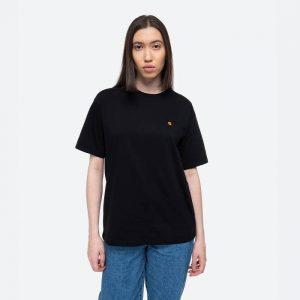 חולצת T קארהארט לנשים Carhartt WIP S/S Chase - שחור