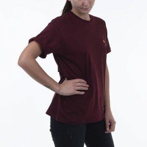 חולצת T קארהארט לנשים Carhartt WIP S/S Chase - בורדו
