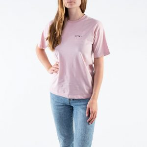 חולצת T קארהארט לנשים Carhartt WIP S/S Script Embroidery - ורוד