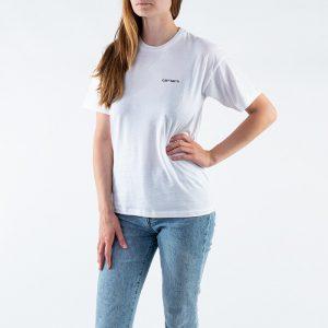 חולצת T קארהארט לנשים Carhartt WIP S/S Script Embroidery - לבן