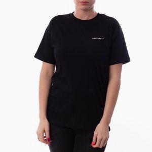 חולצת T קארהארט לנשים Carhartt WIP Script Embroidery - שחור