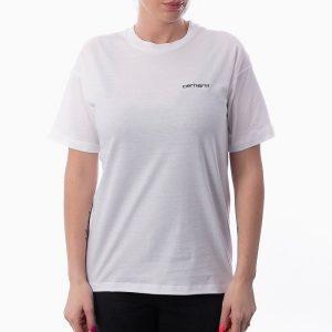 חולצת T קארהארט לנשים Carhartt WIP Script Embroidery - לבן