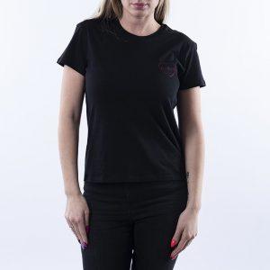 חולצת T קארהארט לנשים Carhartt WIP Tilda Heart - שחור