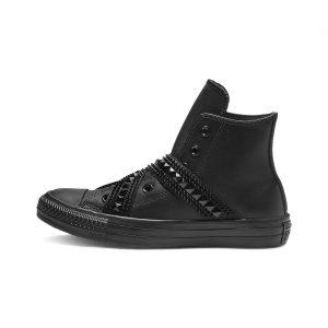 נעלי סניקרס קונברס לנשים Converse All Star Punk Strap - שחור