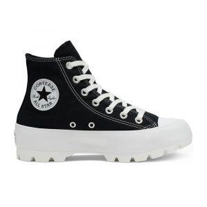 נעלי סניקרס קונברס לנשים Converse Chuck Taylor All Star Lugged High Top - שחור/לבן