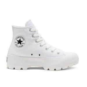 נעלי סניקרס קונברס לנשים Converse Chuck Taylor All Star Lugged High Top - לבן