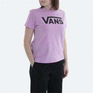 חולצת T ואנס לנשים Vans Flying V Crew Tee - ורוד