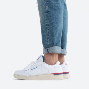 נעלי סניקרס ריבוק לגברים Reebok Ad Court - לבן  כחול  אדום