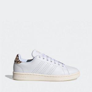 נעלי סניקרס אדידס לנשים Adidas Advantage - לבן הדפס