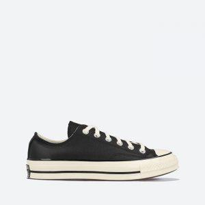 נעלי סניקרס קונברס לנשים Converse Chuck 70 OX - שחור מבריק