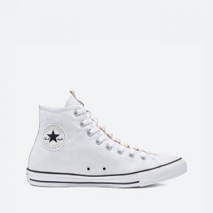 נעלי סניקרס קונברס לגברים Converse Chuck Taylor All star Hi - לבן