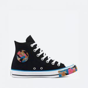 נעלי סניקרס קונברס לנשים Converse Chuck Taylor All Star Hi - שחור פחם