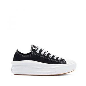 נעלי סניקרס קונברס לנשים Converse Chuck Taylor All Star Move OX - שחור/לבן