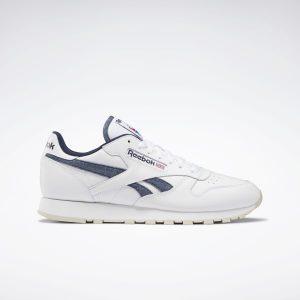נעלי סניקרס ריבוק לגברים Reebok CLASSIC LEATHER - לבן/כחול
