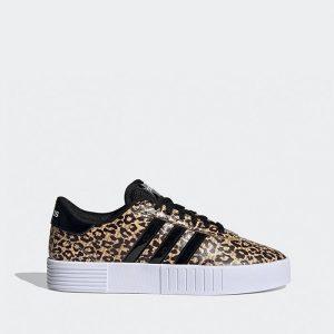 נעלי סניקרס אדידס לנשים Adidas Court Bold - מנומר
