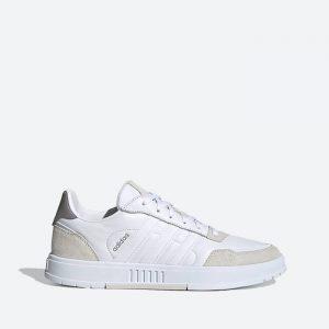 נעלי סניקרס אדידס לגברים Adidas Courtmaster - לבן הדפס
