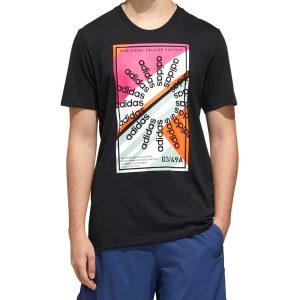 חולצת T אדידס לגברים Adidas Climalite Creator Culture - שחור