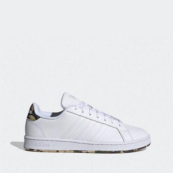 נעלי סניקרס אדידס לגברים Adidas Grand Court - לבן הדפס
