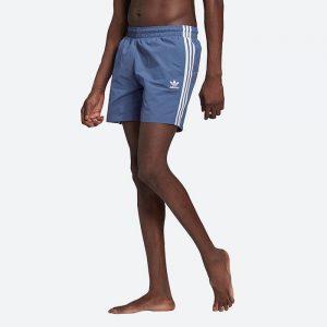 בגד ים אדידס לגברים Adidas Originals Adicolor Classics 3-Stripes Swim - כחול