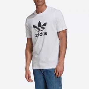 חולצת T אדידס לגברים Adidas Originals Adicolor Classics Trefoil Tee - לבן