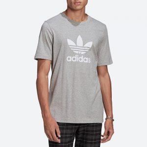 חולצת T אדידס לגברים Adidas Originals Adicolor Classics Trefoil Tee - אפור