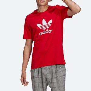 חולצת T אדידס לגברים Adidas Originals Adicolor Classics Trefoil Tee - אדום