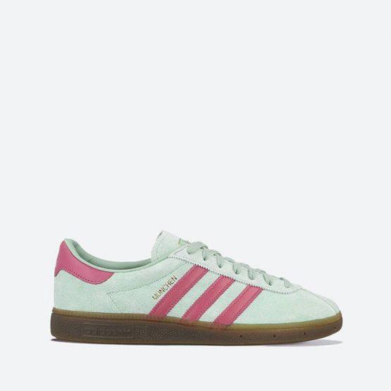 נעלי סניקרס אדידס לגברים Adidas Originals Munchen - ירוק
