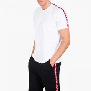חולצת T אלפא אינדסטריז לגברים Alpha Industries RBF Tape - לבן