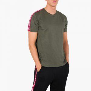 חולצת T אלפא אינדסטריז לגברים Alpha Industries RBF Tape - ירוק