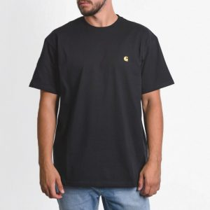 חולצת T קארהארט לגברים Carhartt WIP Chase - שחור